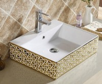 E3009-02 counter top wash basin types of lavatory round