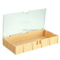 Wholesale Yellow Kit SMT SMD Components Boxes Electronic Laboratory Storage Box Storage Case 125x63x21.5mm