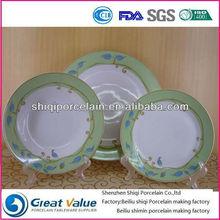 round modern white royal porcelain dinnerware