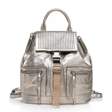 Women leather backpack for wholesale and OEM in China