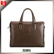 high quality brown leather briefcase men business cases