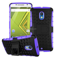 2015 Stylish Slim Armor Dual Layer Hybrid Full-body Protective hybrid case for moto x play factory price