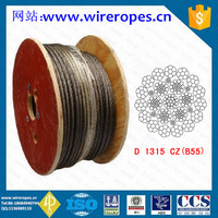 24mm 2160mpa Grove 450 tons B55 crane wire rope