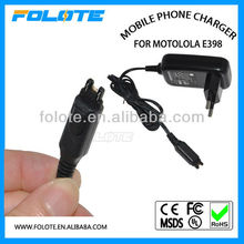 mobile charger,cell phone E398 EU charger for Motorola