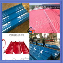 effective 980mm 0.3mm to 0.6mm trapezoidal ribbed steel roof/trapezoidal ribbed roof sheet/trapezoidal metal steel