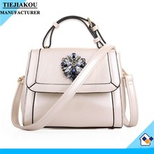 High Quality New Design hand pu leather women fashion shoulder bag messenger bag supplier