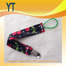 Hot Sale Summer!!!Girls Cherries red black white Baby Pacifier Clip/Pacifier holder/Paci holder,Baby sippy cup holder/Toy leash