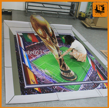 UV Printing custom vinyl 3D Floor Sticker printing