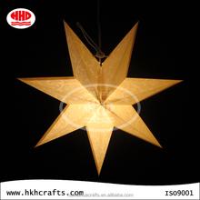 Chinese handmade lucky paper star lamp