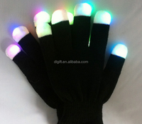Party favor Glow in the dark gloves,Cotton nylon led gloves,Flashing gloves