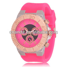 GE0510 2014 New Hot Brand Design Big Men Quartz Wristwatch Silicone