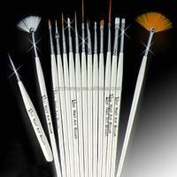 Hot Sale 15Pcs Design Painting Pen Professinal Nail Art Brush Set for Natural False 3D Tips Tool Beauty Brand New