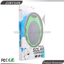 Hottest portable solar travel charger 5000mah made in China