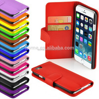 wallet flip leather with card slot case cover for iphone 6s plus