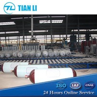 60L - 145L Glass fiber wrapped Seamless steel CNG Gas cylinder price for Vehicle