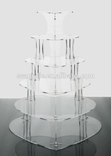 New 6 Tier Acrylic Wedding Cake&Party Cupcake Stand cake tools