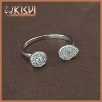KISVI Manufacturers Wholesale 925 Silver jewelry ,The Latest Design Fashion Open Ring