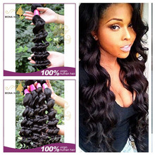 Aliexpress hair hot selling hair weft, 7A no shedding no tangle long lasting Russian human hair, loose wave true glory hair