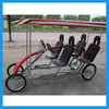 two and four people tandem bike with four wheel