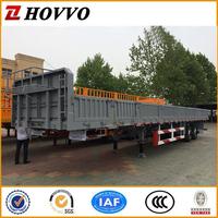 3 axles side wall van type cargo transport box semi truck trailer