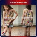 Niñas China fabricante camisola de flores vestido niño