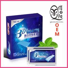 OEM Oral hygiene teeth whitening dental whitening strips 3D strong brightening strips