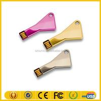 Promotion gift cheap memory key shape usb stick with custom logo