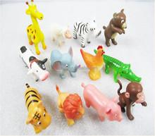 Promotional Customized Mini Plastic 3D Kids PVC Animal Toy