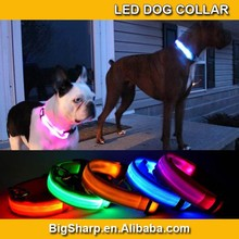 Durable Bright LED Collar Light Dog Glowing in Dark 7 Colors 4 Sizes Nylon LED Dog Collar DC2502