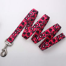 custom size and design polyester sublimation print pet dog lead direct factory