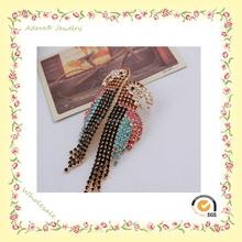 China wholesale parrot earrings, tassel earring, fashion design dangler