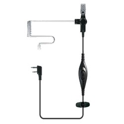 TC-P01A0 Air tube In-ear Walkie talkie earpiece Wired Metal earphone/earpiece for Amateur two way radio HYS