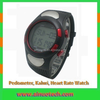 wrist watch sports watch pedometer, calories, heart rate monitor watch