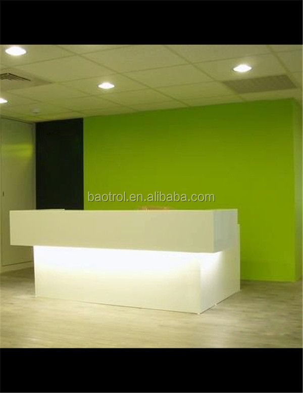 Hot selling solid surface salon reception desk/beauty salon reception ...