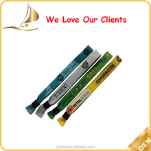 eco-friendly Polyester woven wristband , customised wristband