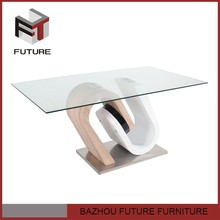 MDF material glass top newest kitchen products