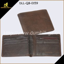 Red Cowhide Leather Men's Wallet For Young Boy