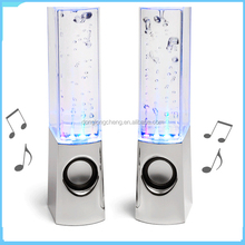 Water dancing bluetooth speaker with LED light made in China