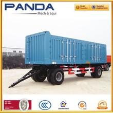 Pandamech Tandem Axle Box Full Trailer Truck With Drawbar For Sale