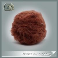 red fiber, polyester spinning fiber dyed
