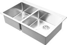 upc alta calidad fregadero de la cocina de acero inoxidable