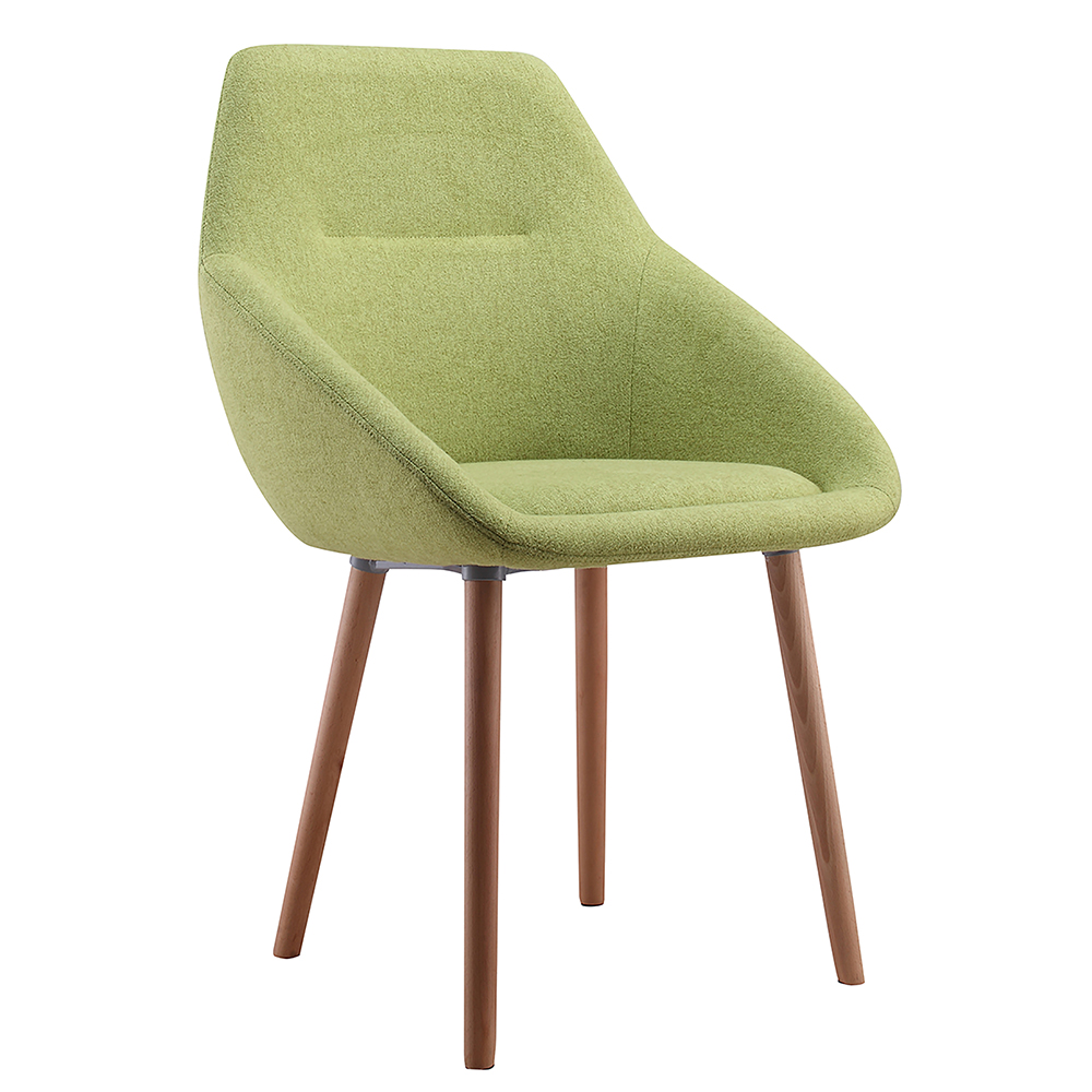 New model french dining chair cashmere fabric green dining chair