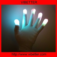 LGL-07 LED White Glove Party Supplies Promotion Gifts Black or White Finger Flashing Led Magic Gloves