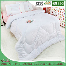 High quality hotel soft white 100% cotton quilt/baby quilt for wholesale