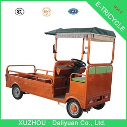 electric quadricycle cargo three wheel motorcycle with steering wheel
