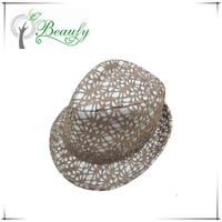 Fashion Design Brown Lace Fedora Hat on Sale
