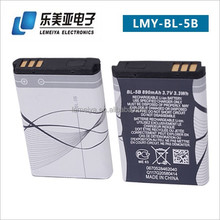LEMEIYA 2015 Shenzhen mobile phone battery msds Accessories BL-5B AKKU For NOKIA N80 N90