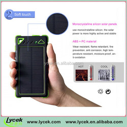 Solar Panel Dual Charging Ports portable solar mobile charger power bank