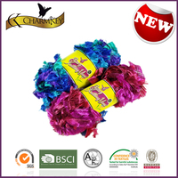 100% spun polyester knitting yarn for needle crafters hand knitting yarn dyeing factory