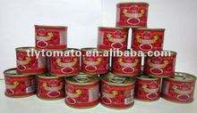 Competitive price tomato paste price ton repacking in 70gx50tins